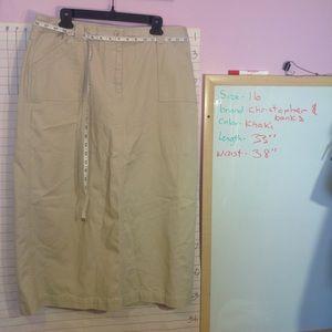 Size 16 midi skirt, khaki color,